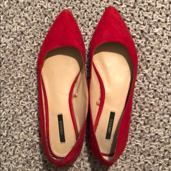 Charlotte Russe Shoes - Red flats.